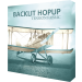 Hopup 5ft Backlit Straight Tabletop Tension Fabric Display